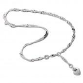SilberDream 25cm Fußkette Herz 925er Silber SDF020I