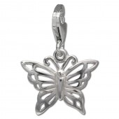 SilberDream Charm Schmetterling 925er Silber Armband Anhänger FC731I