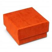 SD Schmuckschachtel orange Geschenk-Verpackung 40x40x25mm Etui VE3042O