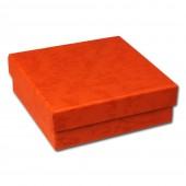 SD Geschenk-Verpackung orange Schmuckschachtel 90x90x30mm Etui VE3093O