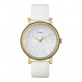 TIMEX Uhr wei Damenuhr rund TIMEX CLASSIC Uhren Kollektion UT2P278