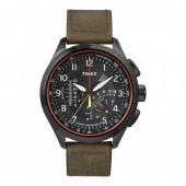 TIMEX Uhr schwarz-braun Herrenuhr TIMEX IQ Uhren Kollektion UT2P276