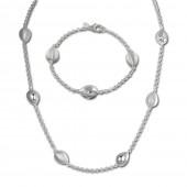 SilberDream Schmuck Set Tropfen Collier Armband 925 Silber SDS416