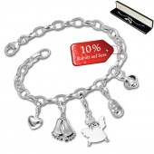 SilberDream Armband Fashion Charm Set Baby 925er Anhänger FCA316