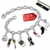 SilberDream Armband Fashion Charm Set Lady 925 Anhänger FCA321