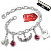 SilberDream Armband Fashion Charm Set Angels 925 Anhänger FCA323