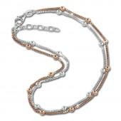 SilberDream Fußkette Kugel Rose vergoldet und 925er Silber SDF2133E
