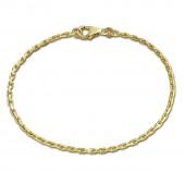 SilberDream Armband Anker diamantiert 333 Gold 18,5cm 8 Karat GDA0028Y