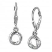SilberDream Ohrring Doppelring 925 Sterling Silber Ohrhnger SDO5687
