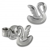 SilberDream Ohrstecker Schwan 925er Silber Kinder Ohrringe SDO403