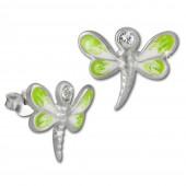 Kinder Ohrring 3D Libelle hellgrn Ohrstecker 925 Kinderschmuck TW SDO8109L
