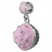 SilberDream Ketten Anhnger Muffin rosa Zirkonia 925er Silber SDH600A