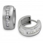 SilberDream Creole Glanz Zirkonia wei 925 Sterling Silber Ohrring SDO349S