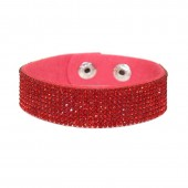 SilberDream Glitzerarmband Kristalle rot 9 reihig Armband SDA041R