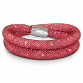 SilberDream Glitzerarmband Minikristalle rosa Doppelarmband Damen SDA051A9