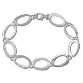 SilberDream Armband Oval offen mattglnzend 925 Sterling Silber 195cm SDA433