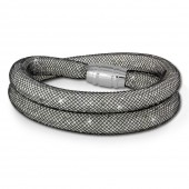 SilberDream Glitzerarmband Minikristalle schwarzwei Doppelarmband SDA051K0