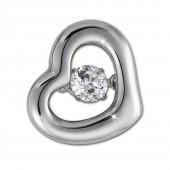 SilberDream Ketten Anhänger Herz Dancing Stone Zirkonia 925er Silber DSH106W