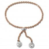 SilberDream Armband Glitzer Rose vergoldet 925er Sterling Silber Damen SDA2205E