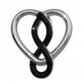 SilberDream Kettenanhnger Herz schwarz 925 Silber Damen Anhnger SDH452S