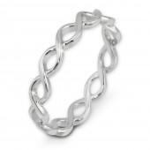 SilberDream Ring geflochten Gr 54 Sterling 925er Silber SDR450J54