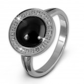 Amello Edelstahl Ring Keramik Zirkonia Gr.58 Edelstahlschmuck ESRX30S58