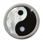 Amello Coin Yin Yang Perlmutt für Coinsfassung 25mm Edelstahlschmuck ESC742S