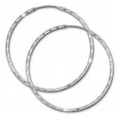 SilberDream Creole glnzend 50mm Damen Ohrring 925 Sterling Silber SDO0085J