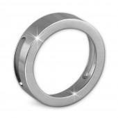 Amello Coinsfassung glanz 25mm Edelstahl für Armband Stahlschmuck ESC080J