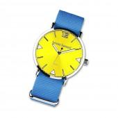 Bruno Banani Damen-Herren Armbanduhr Analog TextilNylon-Armband blau UBR30066