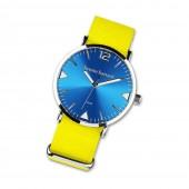 Bruno Banani Damen-Herren Armbanduhr Analog TextilNylon-Armband gelb UBR30067
