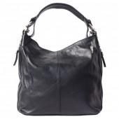 Beuteltasche, Handtasche Damen Handtasche Leder schwarz DrachenLeder OTF101S