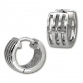 SilberDream Creole Muster 13mm Ohrring 925 Sterling Silber SDO458J