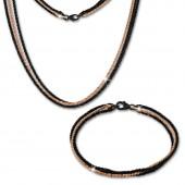 SilberDream Schmuckset Bicolor Rose vergoldet Kette Armband 925 Silber SDS219S