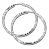SilberDream Creole Glanz 40mm Ohrringe 925 Sterling Silber SDO0144