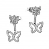 SilberDream Ohrstecker Dangle Ear Cuff Schmetterling 925 Silber Ohrringe GSO448W