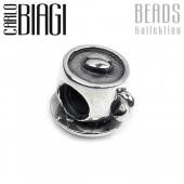 Carlo Biagi Bead Kaffeetasse Silber European Beads BBS135
